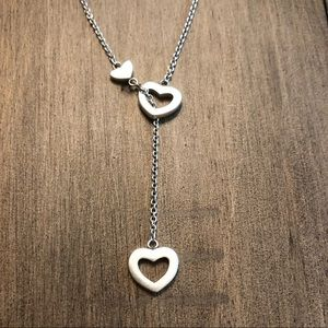Tiffany & Co. sterling silver hearts necklace